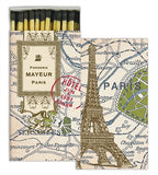 Map of Paris Matchbox