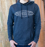 Preservation Company Logo Hooded Sweatshirt in Navy Blue, POS