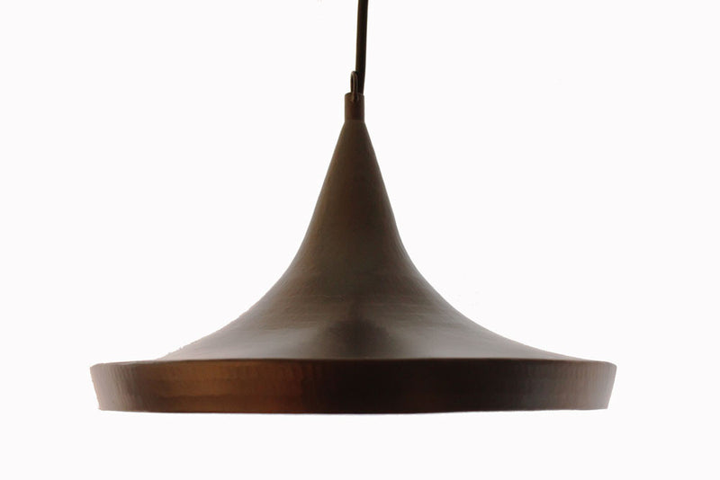 Copper shallow pendant light shade black joglo and roost copper shallow pendant light shade black mozeypictures Image collections