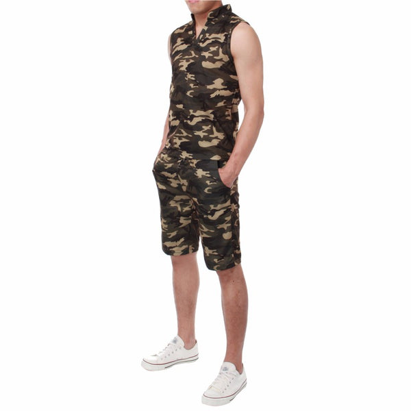 Army Camouflage Tank Top Set