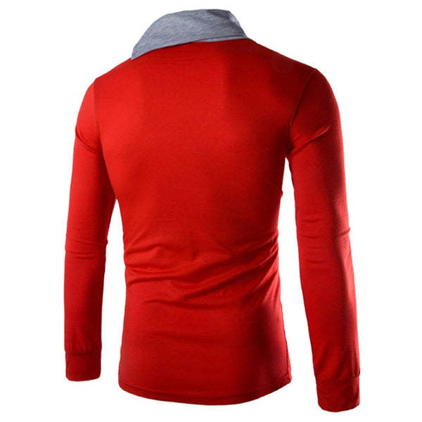 Long Sleeve Folded Collor Tee