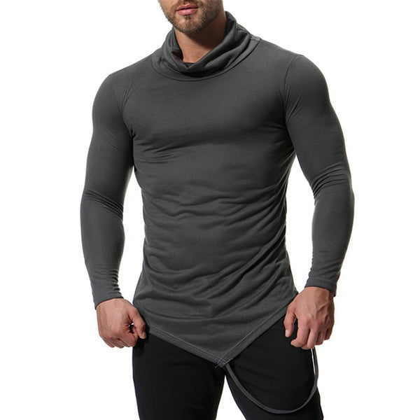 Muscle Tee Long Sleeve High Neck