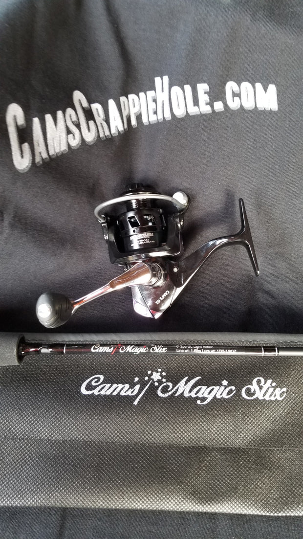 "Cam's (Black Onyx) Magic Stik 6'2"" Spinning Combo"