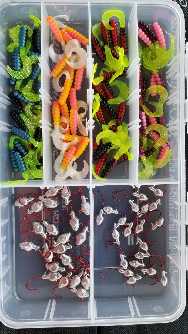 Cam's Nasty Bend Hook Curly Tail Grub Assortment Package (NO SUBSTITUTIONS)