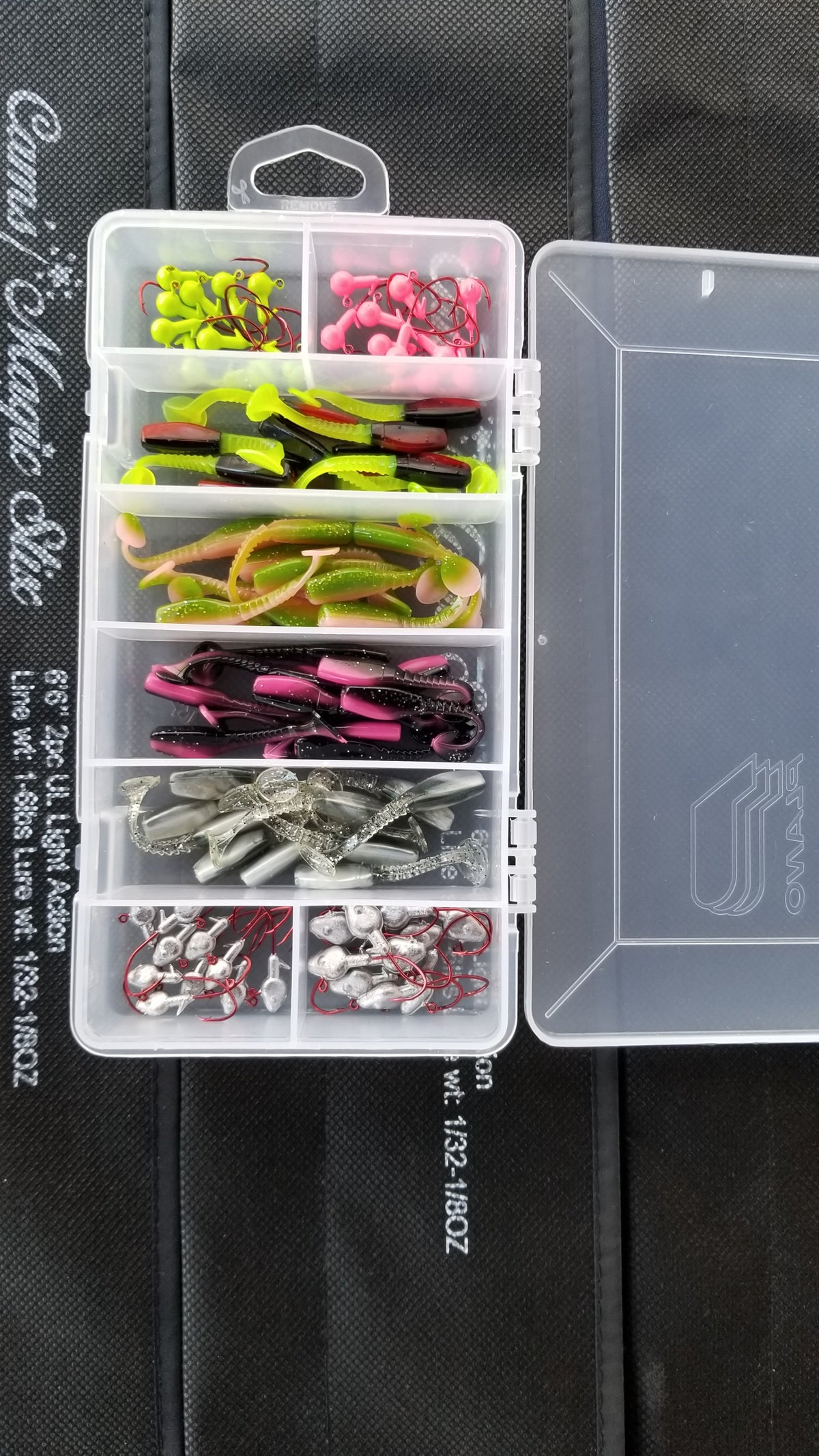 "Cam's Complete ""2"" Swim Vibrating Paddle Tail Shad with (Bite Juice) Starter Assortment Package Kit"