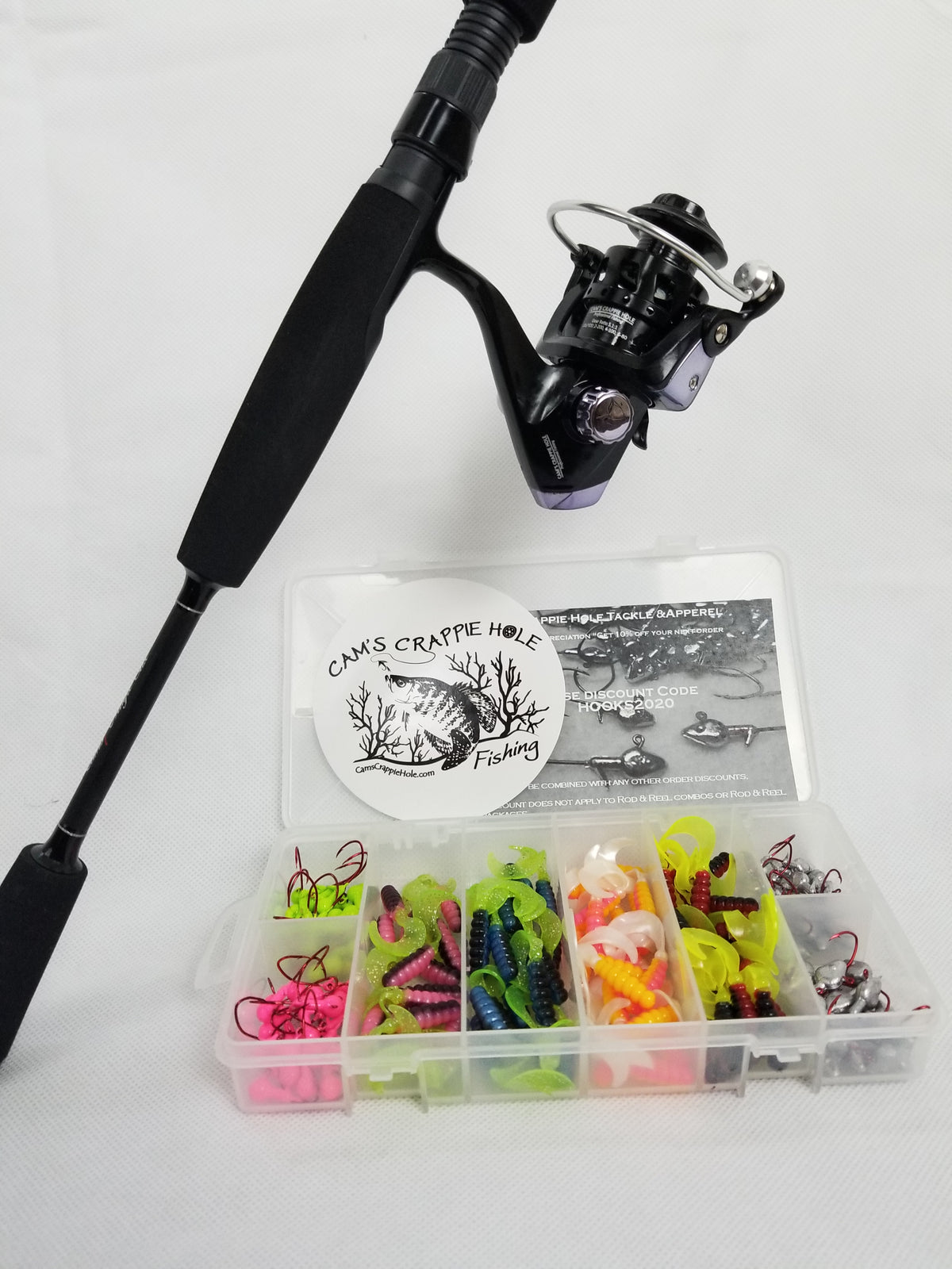 "Cam's ""Black Onyx"" Magic Stik 6'2 Rod and Reel Combo Kit"