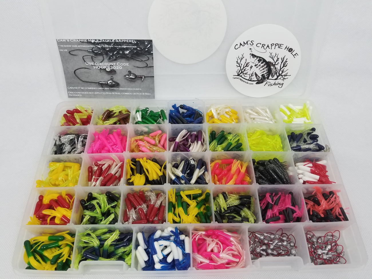 Cam's 1,041 Pieces Ultimate Assorted Crappie Panfish & Nasty Bend Hooks Kit