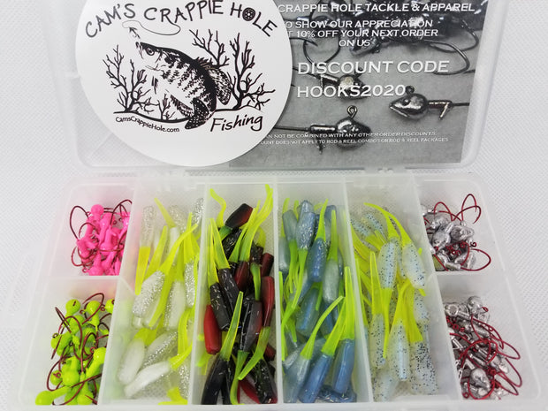2021 New Cam's Complete Stinger Shad [Hologram Flake] Starter Assortment Package Kit