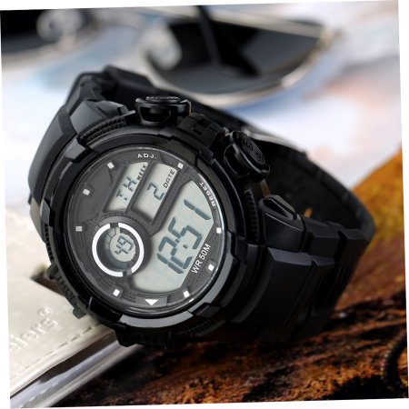 NEW Cam's Men's Sports Digital LED Clock Army Waterproof Wristwatch
