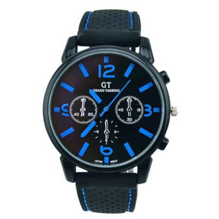 Cam's Big Face Blue Color Easy to Read Sports Water Resistant Watch, Wat-172-B