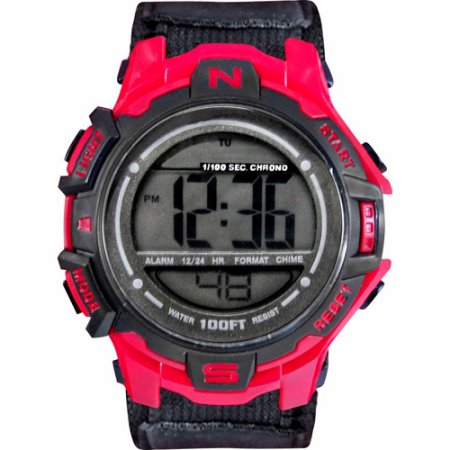 NEW Cam's Men's Digital Sport Watch, Black Velcro Strap (All Black In Stock As Well !!)