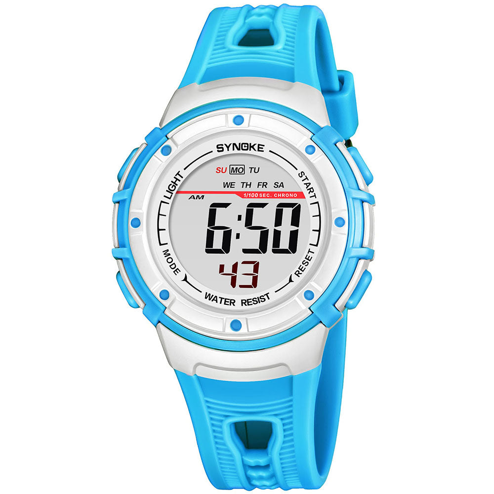 Cam's Sport Children Wrist Watches LED Digital Stopwatch Alarm Luminous Water Resistant Boy Watch