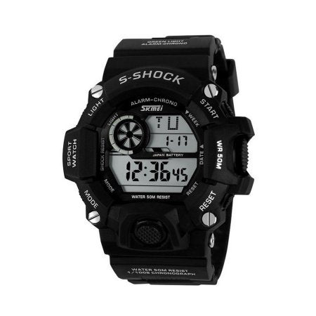 NEW Cam's Men's Superb S-Shock Military Digital Water Resistant Sports Wrist Watch black