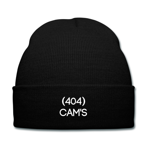 """Cam's"" Black 404 Knitted Hat"
