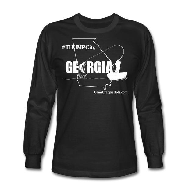 "Cam's ""Thump City Georgia"" Black/White Long Sleeve T-Shirt"