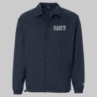 "Men's Blue ""Cam's"" Windbreaker Water-Resistant Jacket"