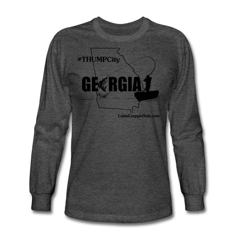 "Cam's ""Thump City Georgia Graphite Gray/Black Long Sleeve T-Shirt"