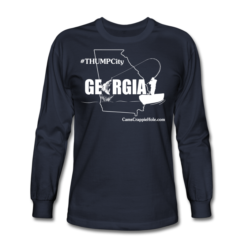 "Cam's ""Thump City Georgia"" Navy Blue/White Long Sleeve T-Shirt"