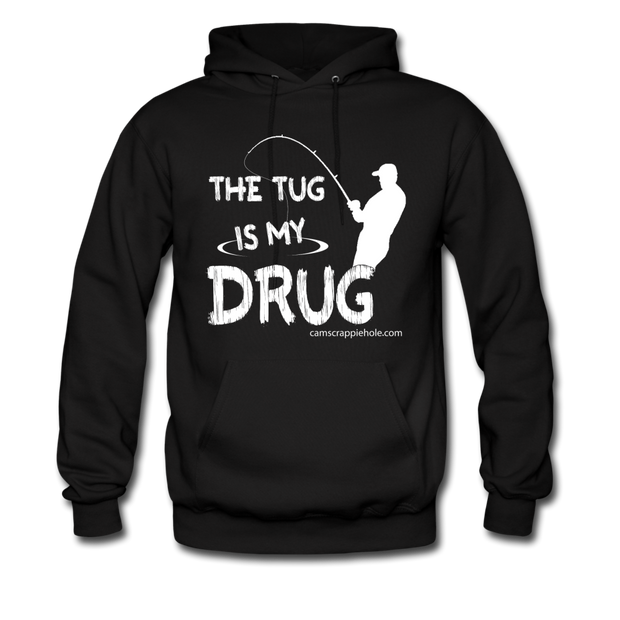 "Men's Black ""Tug Is My Drug"" Hoodie"