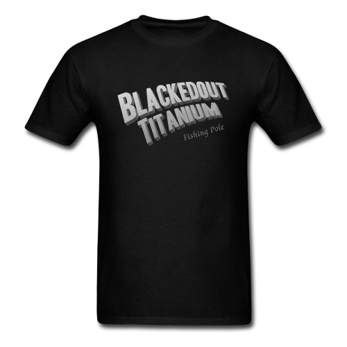 "Cam's ""Black""Short Sleeve Blacked Out Titanium T-Shirt"