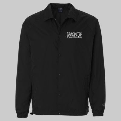 "Men's Black ""Cams"" Windbreaker Water-Resistant Jacket"