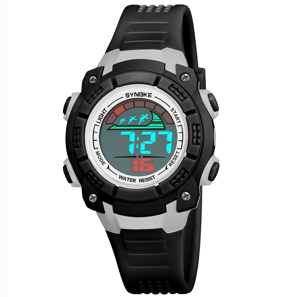 Cam's Sport Children Wrist Watches LED Digital Stopwatch Alarm Luminous Water Resistant Girl Boy Watch