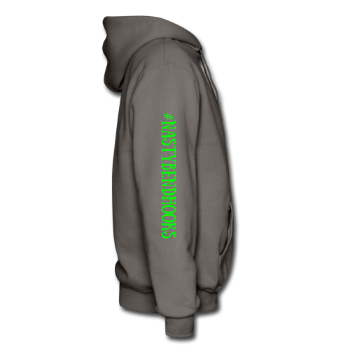"Cam's Asphalt Gray/Green ""You Can Read This"" Hoodie"