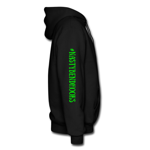 "Cam's Black/Green ""You Can Read This"" Hoodie"