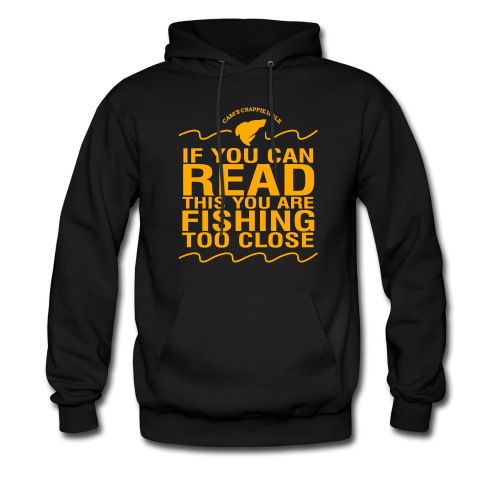 "Cam's Black/Orange""You Can Read This"" Hoodie"