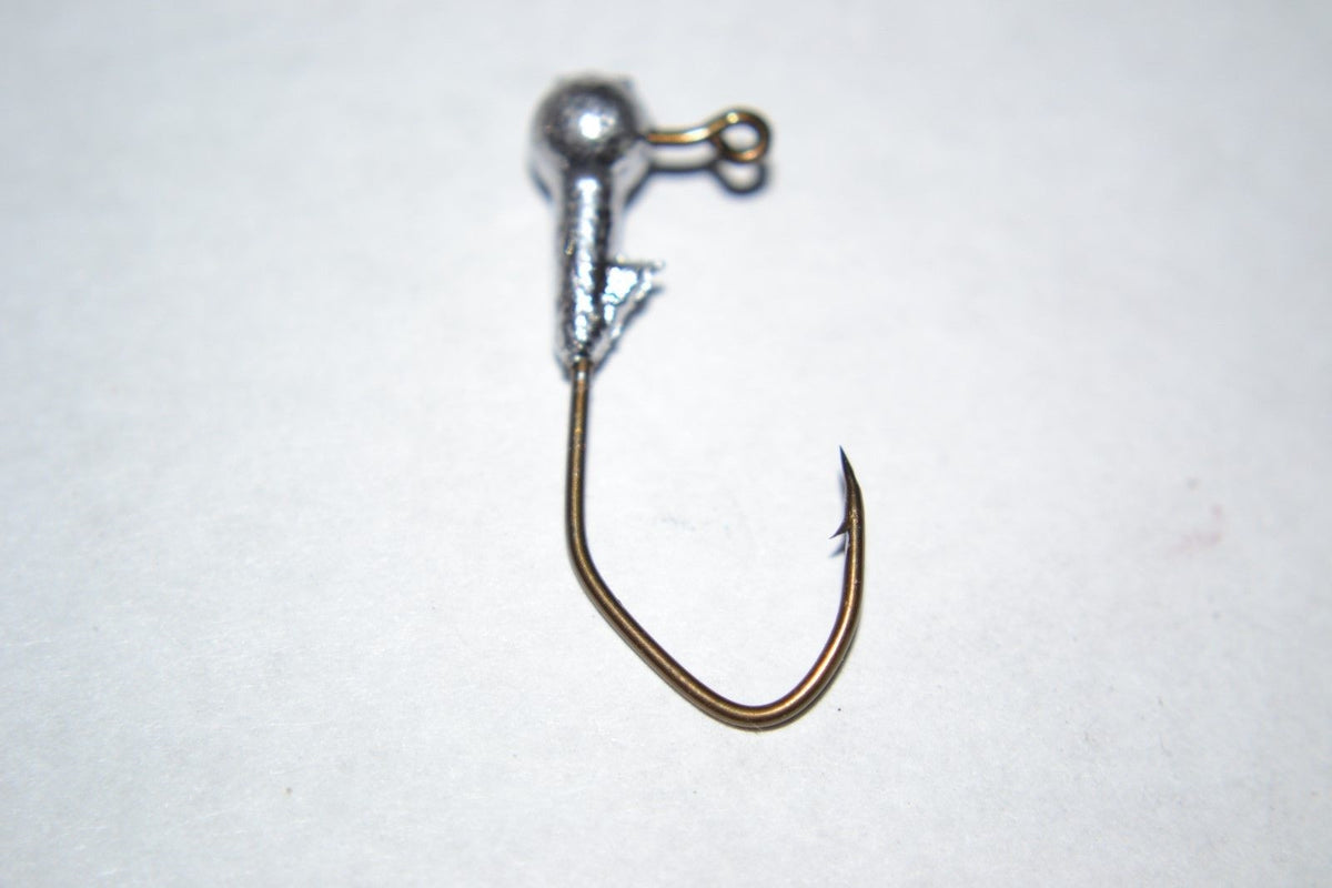 40 pc Cam's 1/32  Ball Head w/Collar #2 Bronze (Laser Sharp) Nasty Bend Hooks Barb Collar
