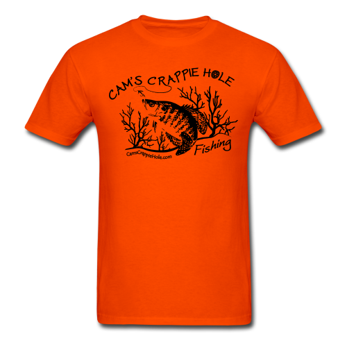 "Cam's ""Orange""Short Sleeve ""Cam's Crappie Hole"" T-Shirt"