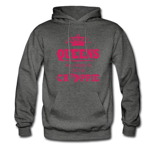 "Women's ""Queen's  Are Born"" Graphite Gray Hoodie"