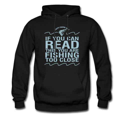 "Cam's Black/Turquoise ""If You Can Read This"" Hoodie"