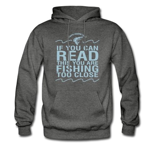 "Cam's Asphalt Gray/Turquoise ""If You Can Read This"" Hoodie"