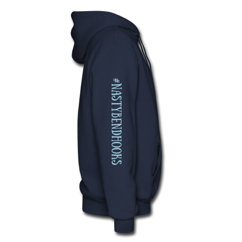 "Cam's  Navy Blue/Turquoise ""If You Can Read This"" Hoodie"