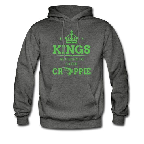 "Men's ""Kings Are Born"" Charcoal Gray Hanes Hoodie"