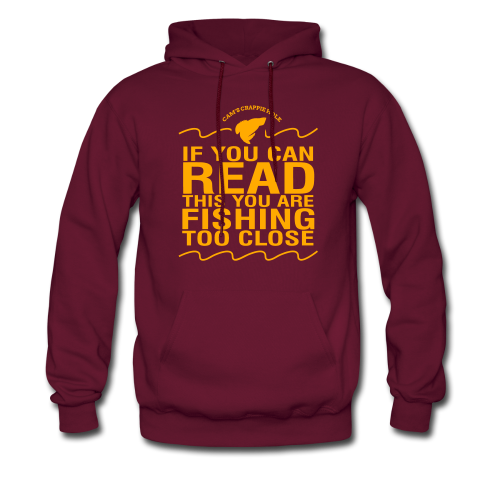 "Cam's Maroon/Orange ""You Can Read This"" Hoodie"