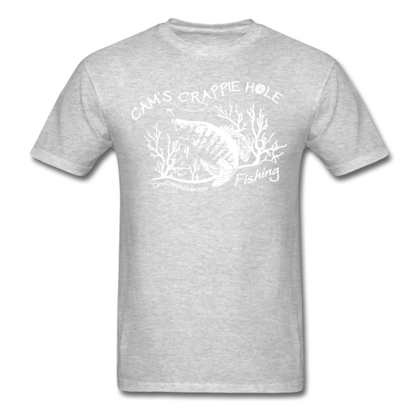 "Sport Gray"" Short Sleeve Crappie Hole T-Shirt"