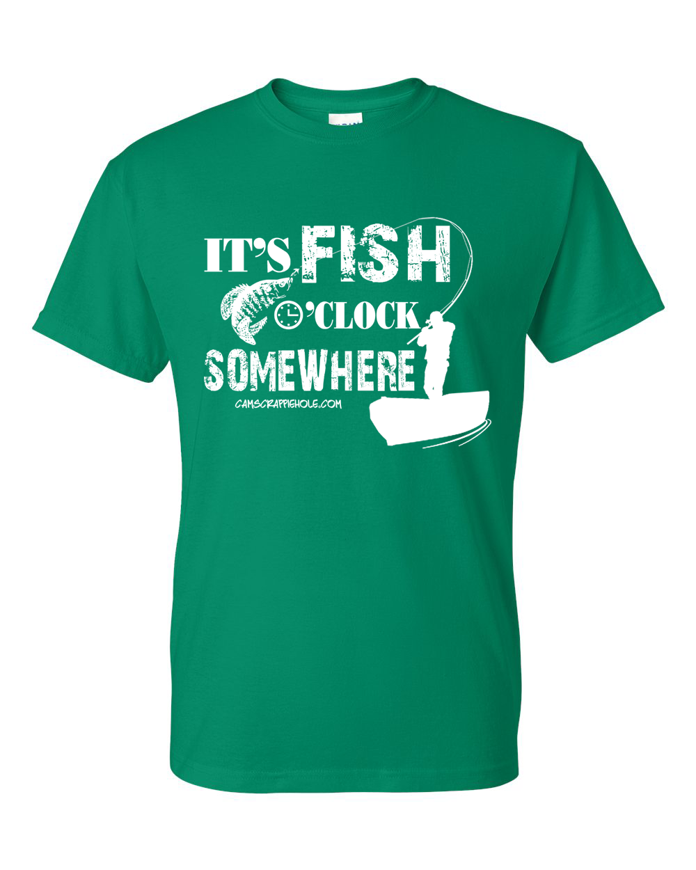 "Cam's""Kelly Green""Short Sleeve Fish O' Clock T-Shirt"