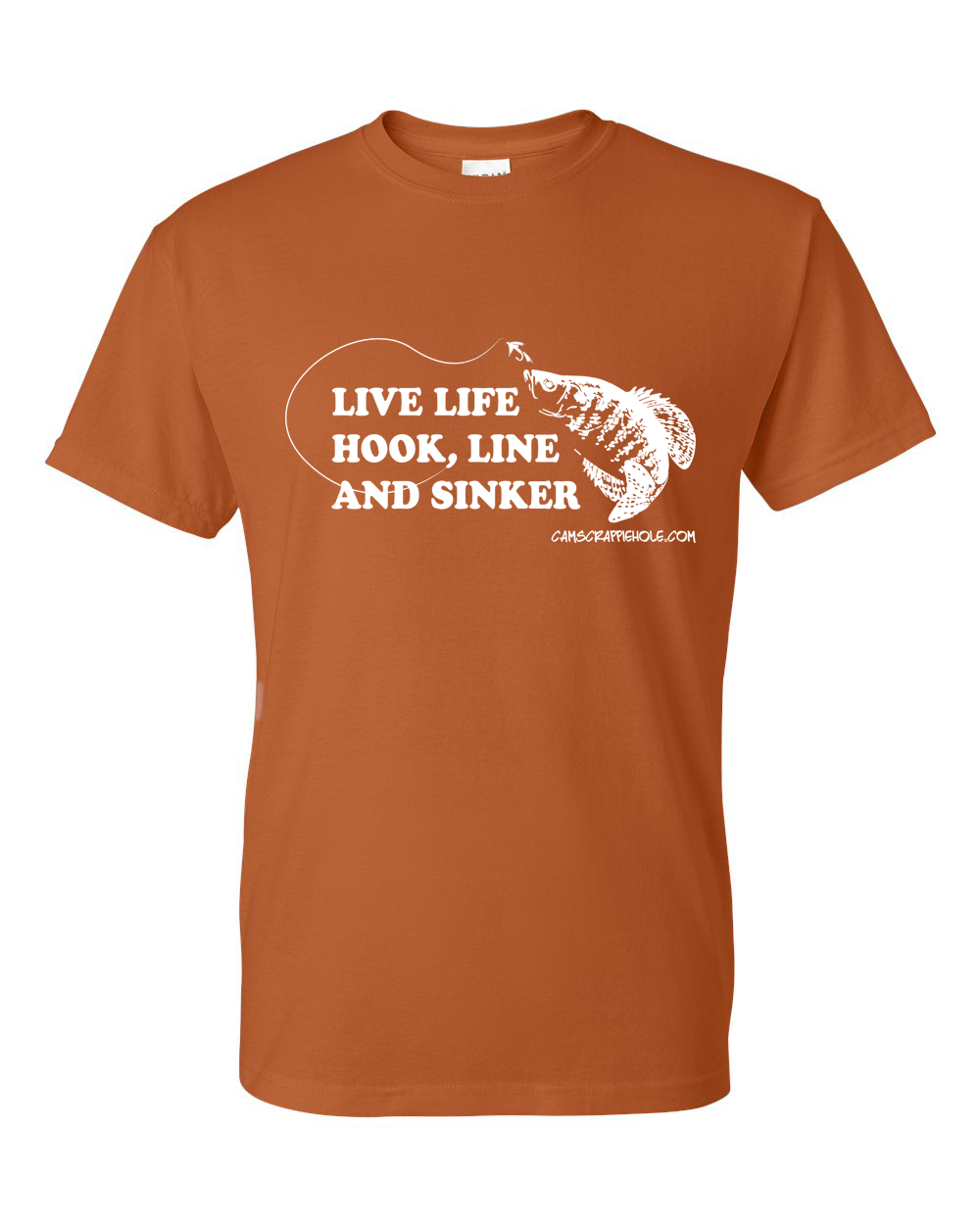 "Cam's ""Burnt Orange"" Live Life Short Sleeve T-Shirt"