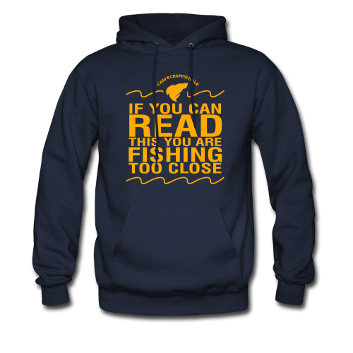 "Cam's Navy Blue/Orange ""You Can Read This"" Hoodie"