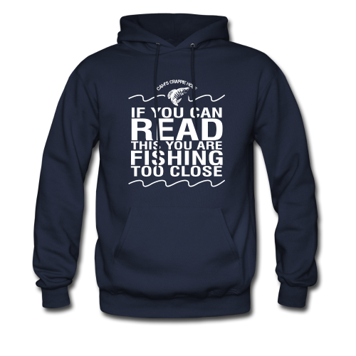"Cam's Navy Blue "" If You Can Read This"" Hoodie"