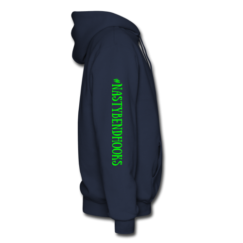 "Cam's Navy Blue/Green ""You Can Read This"" Hoodie"