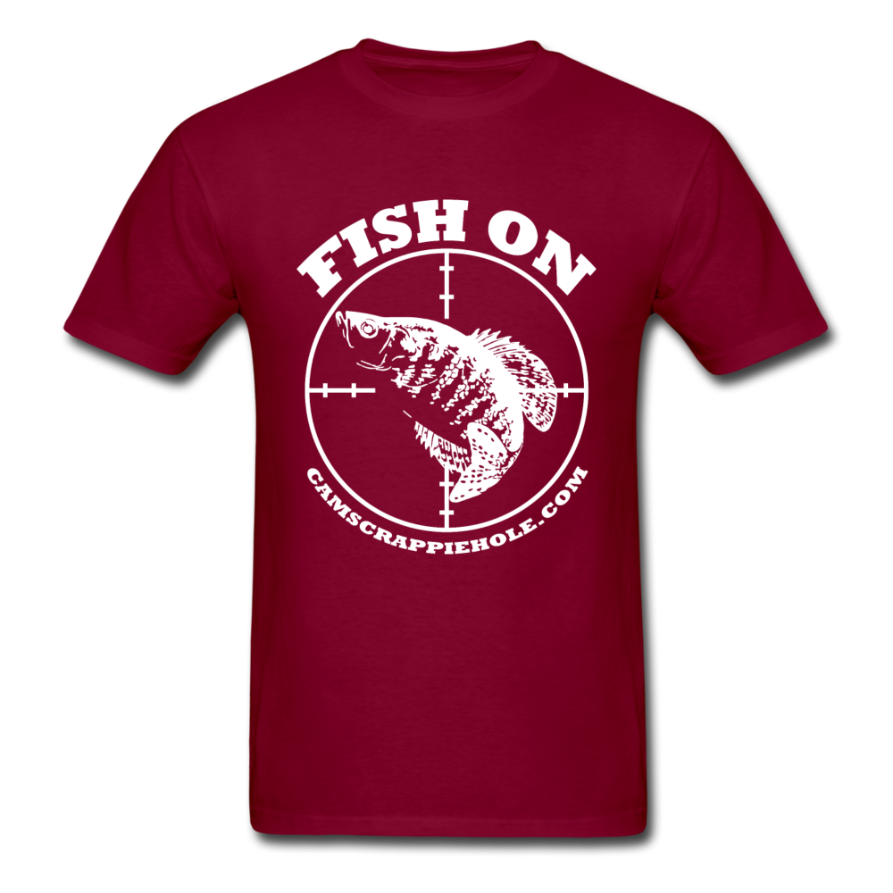 """Maroon""Short Sleeve ""Fish On"" T-Shirt"
