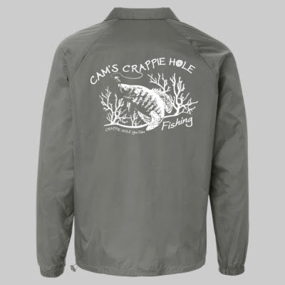 "Men's Gray ""Cams""  Windbreaker Water-Resistant Jackets"