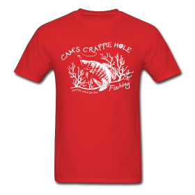 """Red"" Short Sleeve Crappie Hole T-Shirts"