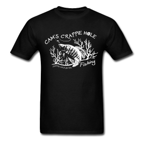 """Black""Short Sleeve Crappie Hole T-Shirt"