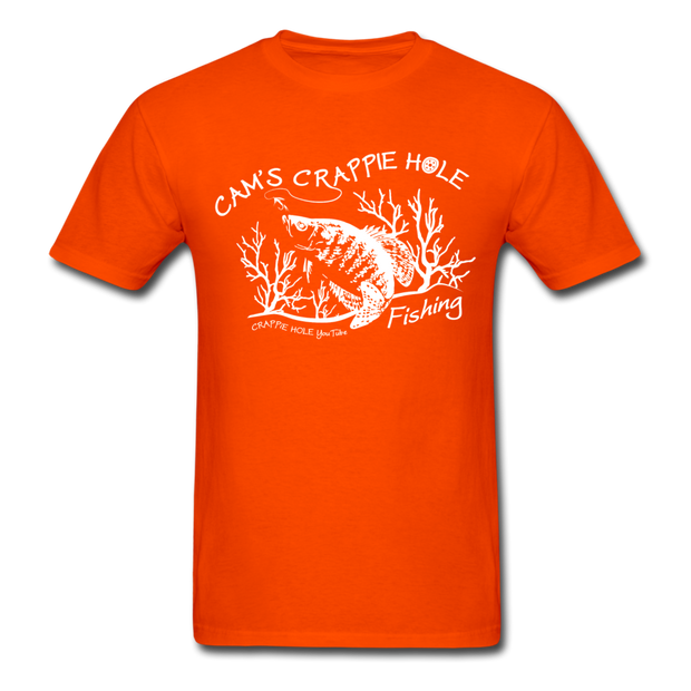 "Cam's""Orange"" Short Sleeve Crappie Hole T-Shirt"