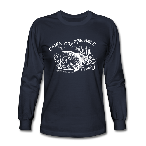 "Men's ""Cams Crappie Hole""Long Sleeve Comes In 4 Different Colors"