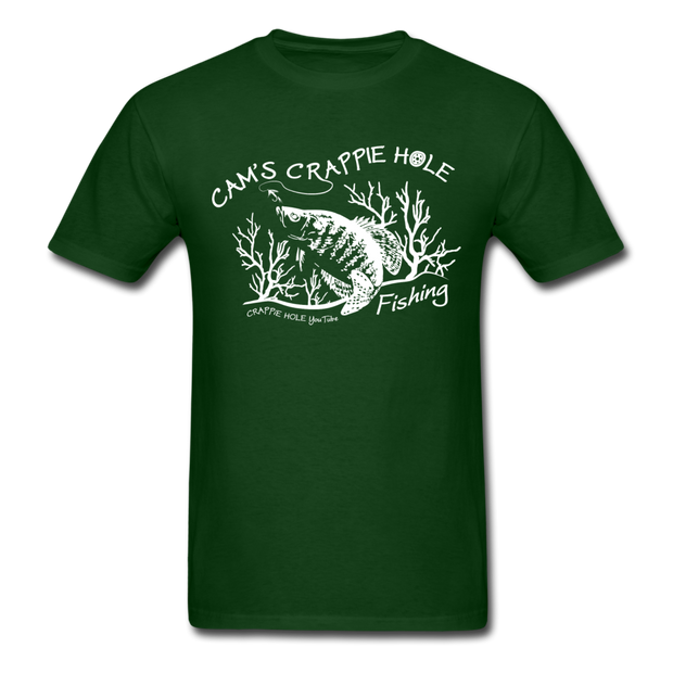 """Forrest Green"" Short Sleeve Crappie Hole T-Shirt"
